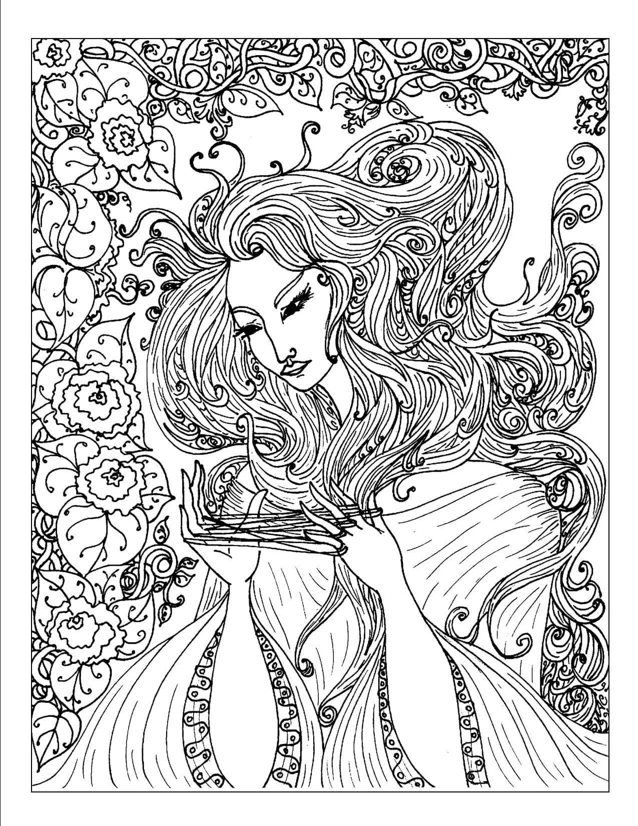 Coloring Pages Complex Lofty Design Ideas Printable Adult Free