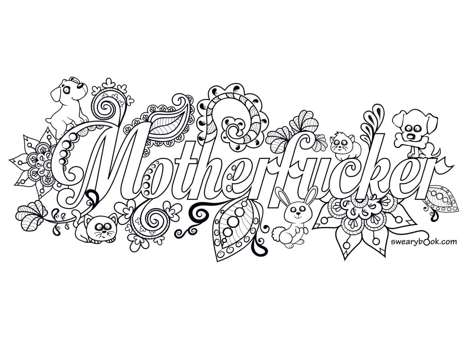 Coloring Pages Cuss Words Free