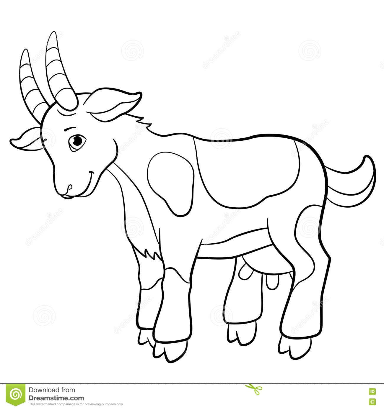 coloring pages of goats - photo#8