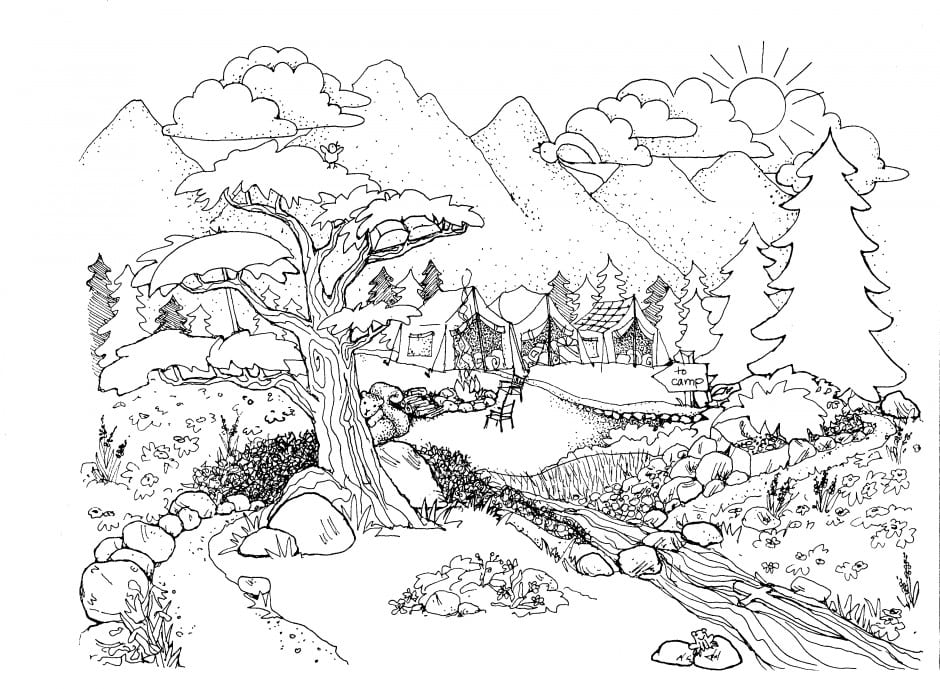 Coloring Pages For Adults Nature C7bf85ee7bc81cd922bd7ee1f6fa7df4