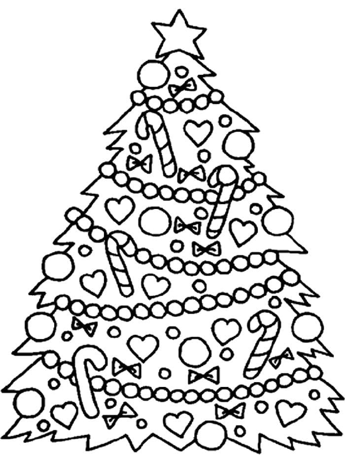 Coloring Pages For Christmas Tree New Easy Copy