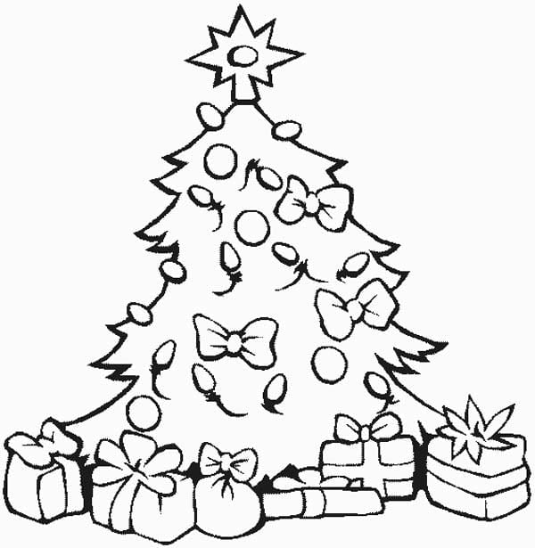 Coloring Pages For Christmas Tree New Stunning With All The