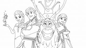 Frozen Coloring Sheet