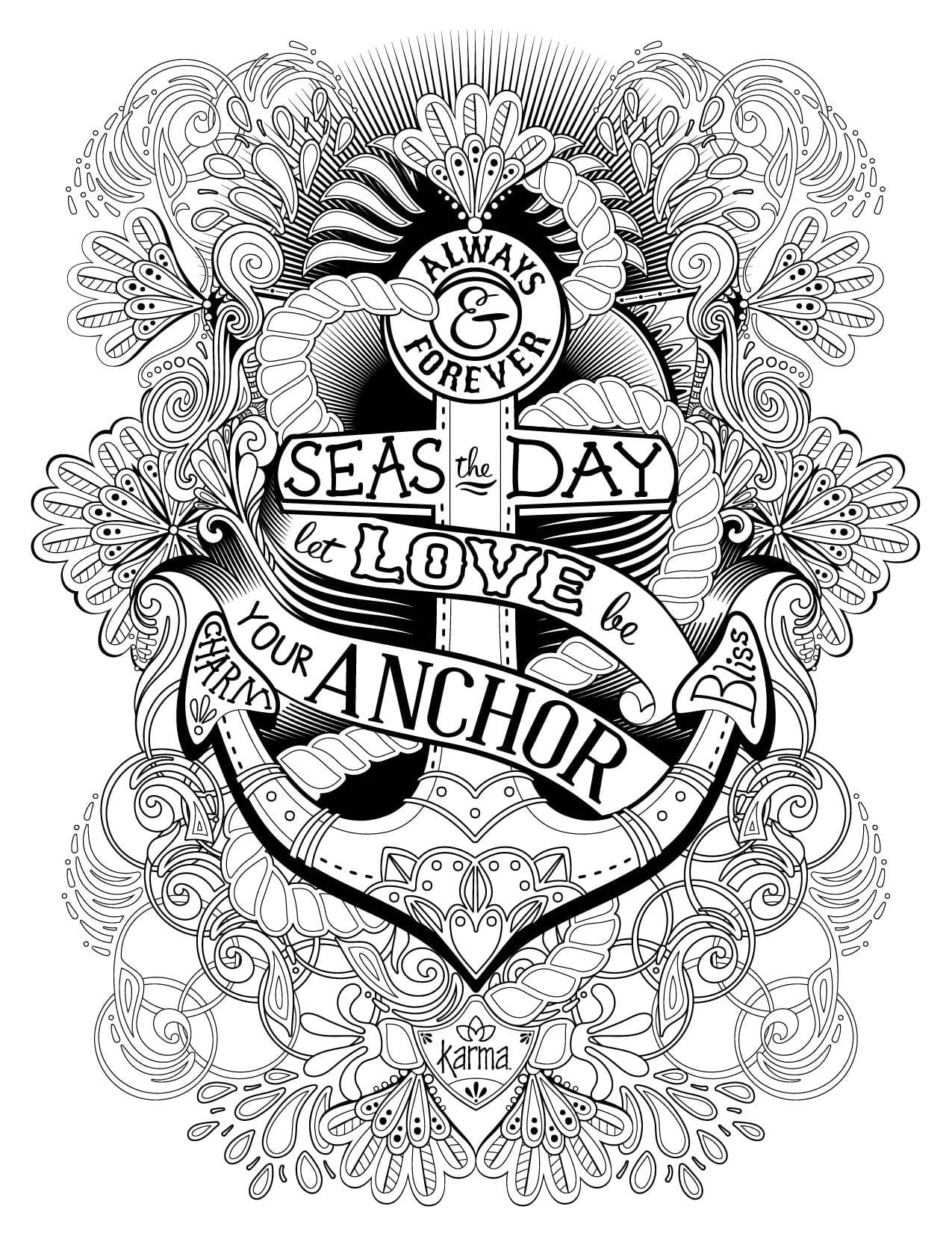 Coloring Pages Of Anchors Professional Anchor 8095 Unknown Best