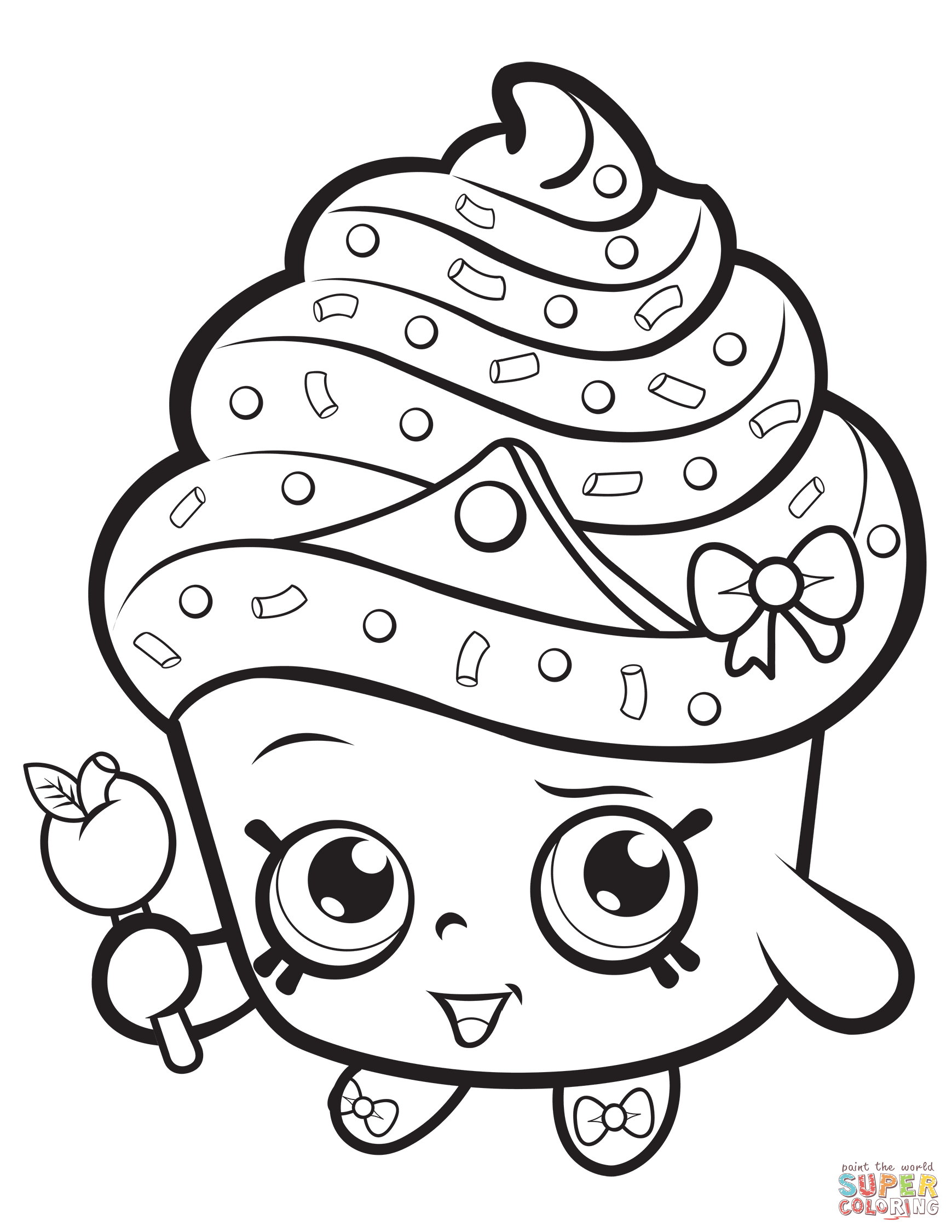 Coloring Pages Of Cupcakes Coloring Book
