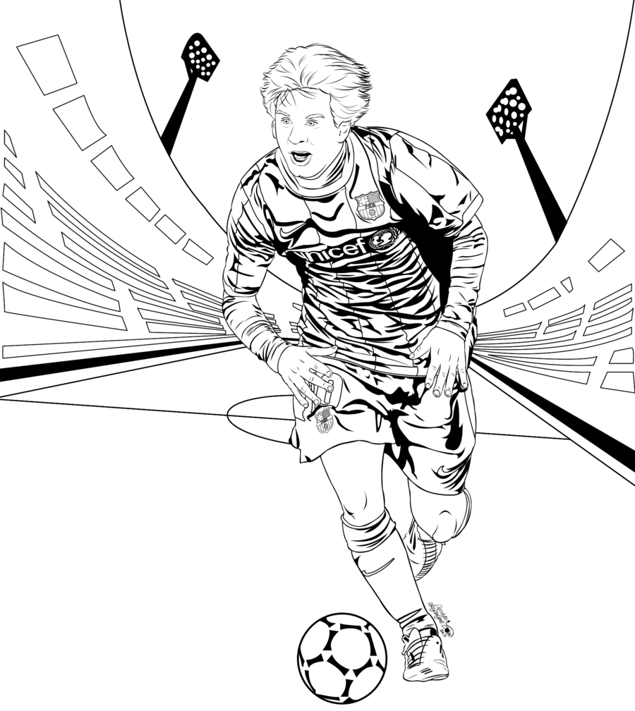 Coloring Pages Of Lionel Messi Kids Home New
