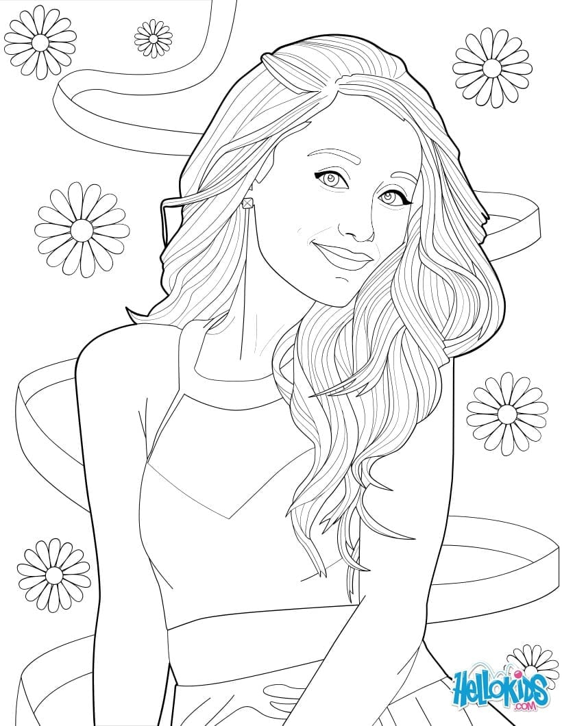 Coloring Picture Of Ariana Grande Coloring Pages