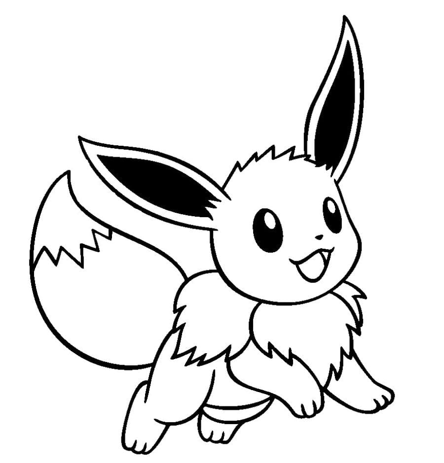 Colossal Eevee Coloring Pages Cute Pokemon Drawings Crafts
