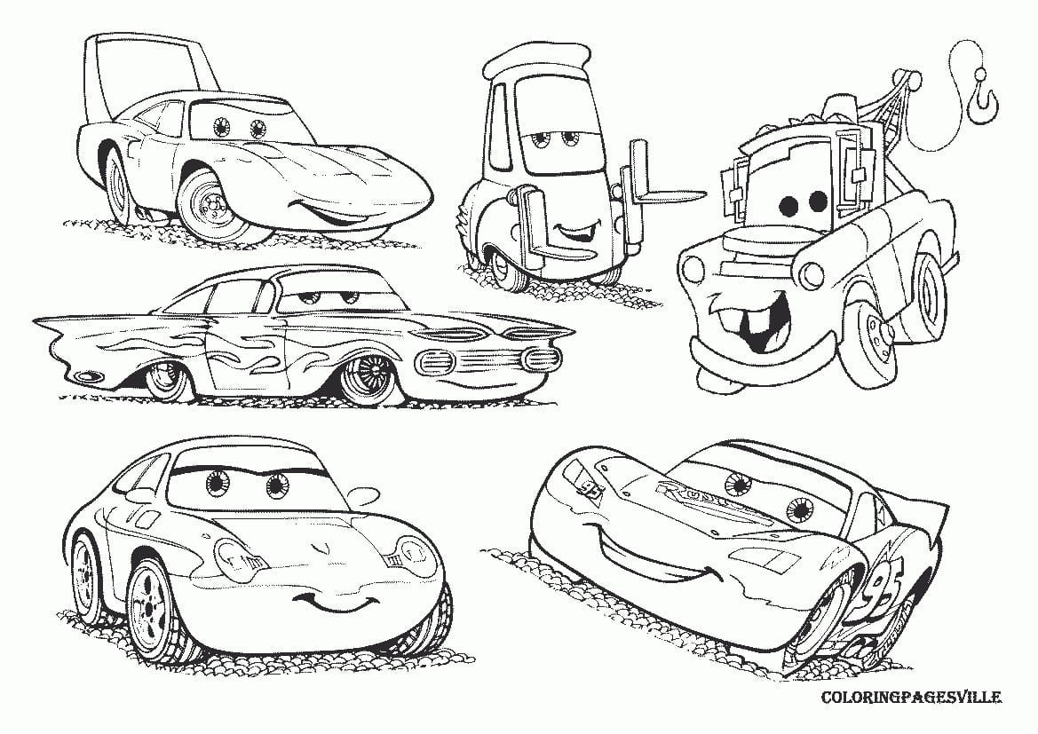 Colossal Lightning Mcqueen And Mater Coloring  23052