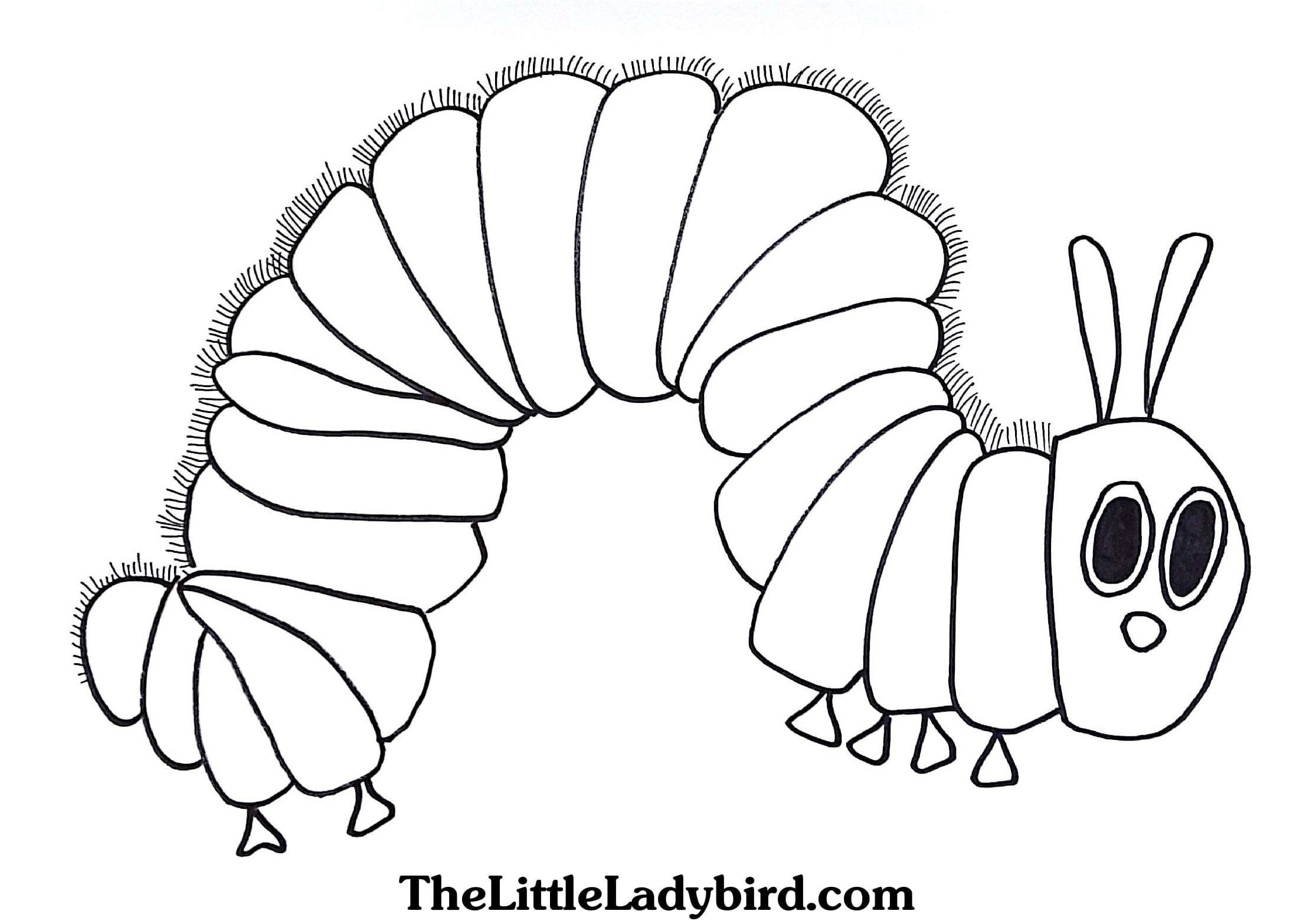 Competitive Very Hungry Caterpillar Coloring Pages Free Download