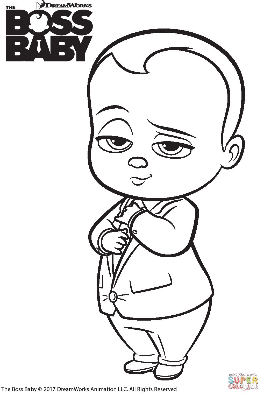 Confidential Child Colouring In The Boss Baby Coloring Page Free