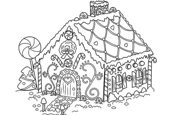 Surprising Design Ideas Gingerbread Man House Coloring Pages