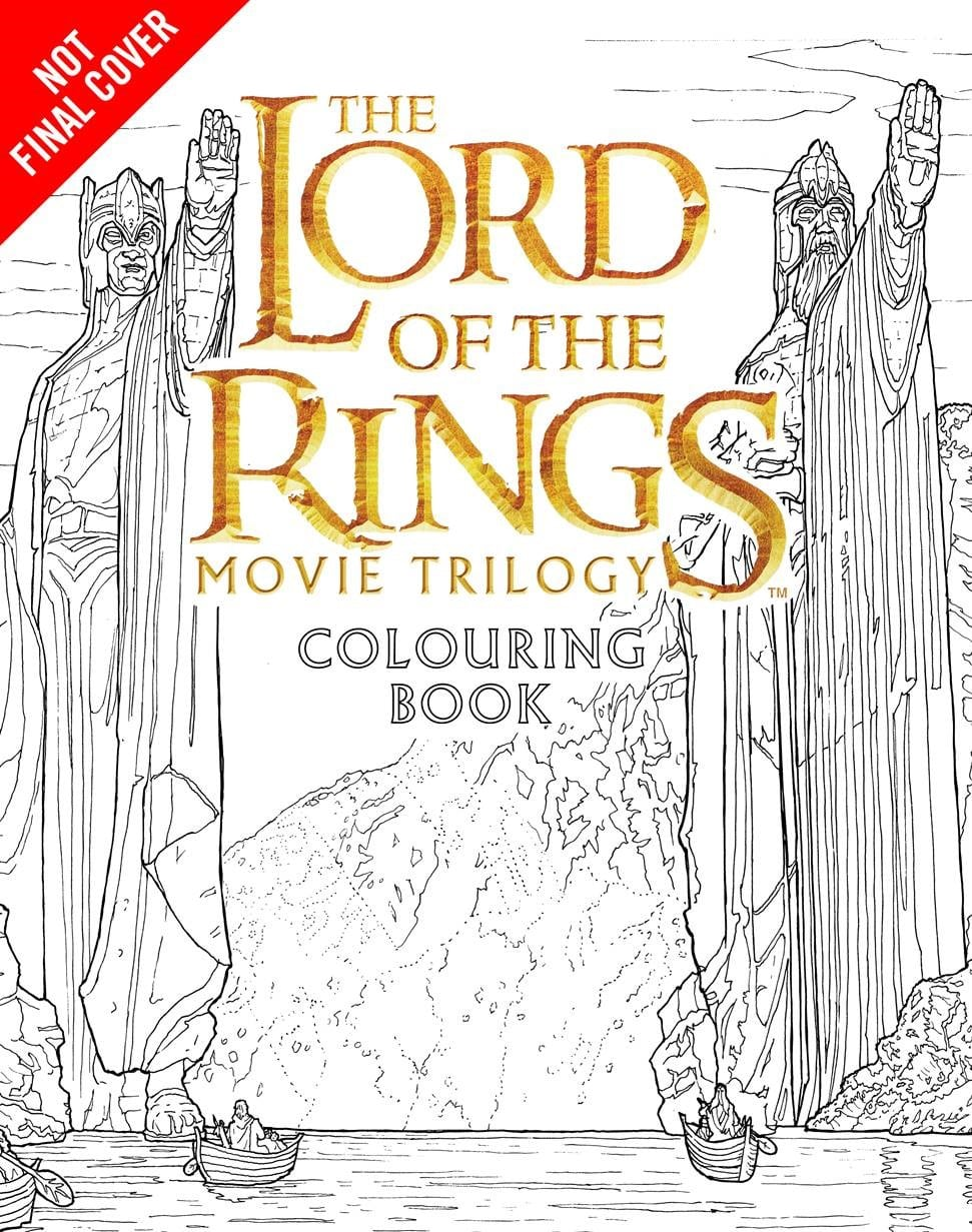 New Merch  Lord Of The Rings Movie Colouring Book!