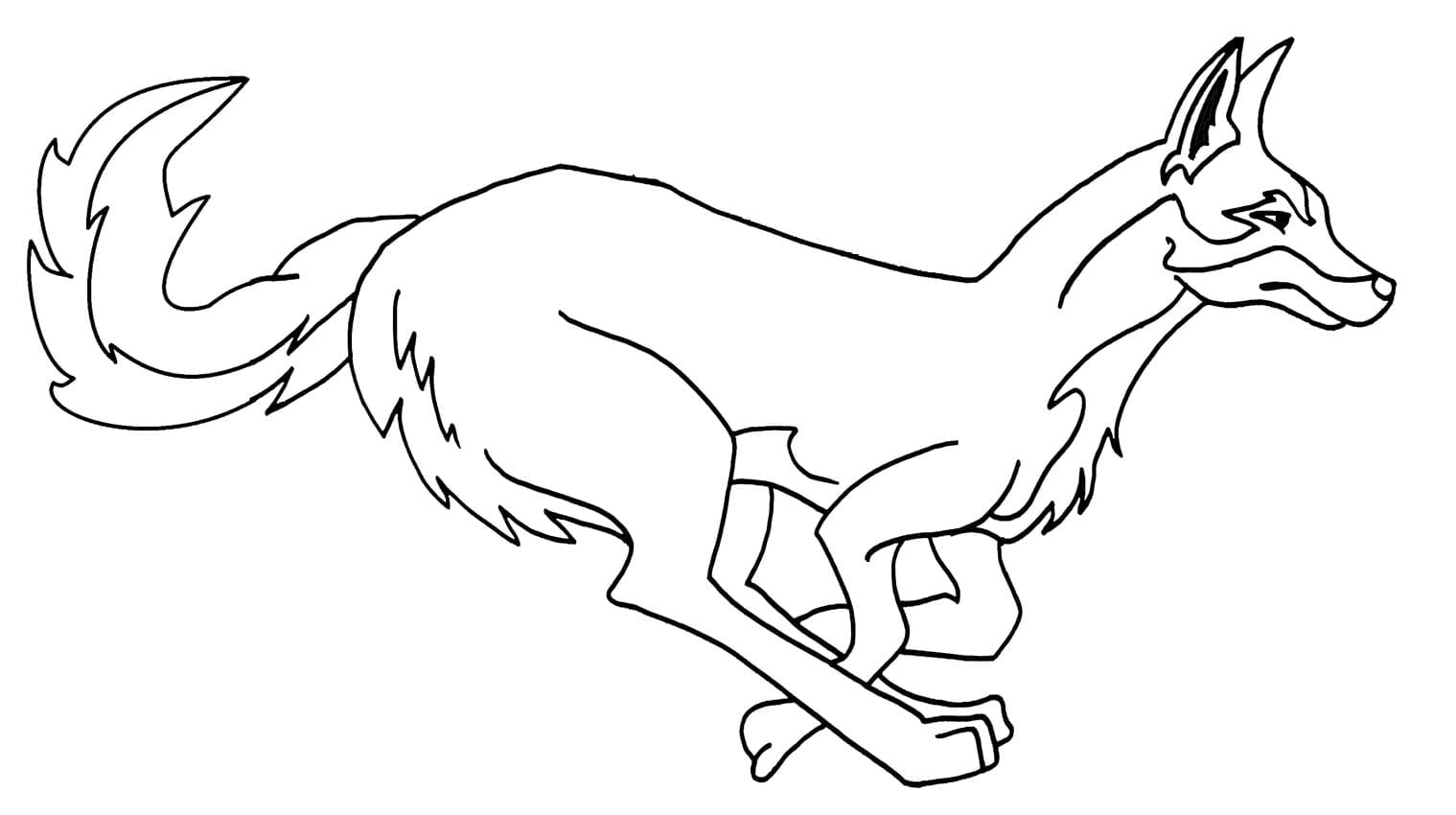 Printable Coyote Coloring Pages For Kids