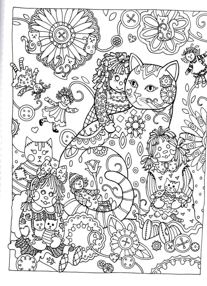 Creative Haven Cats Dover Publications Coloring Pin Throughout