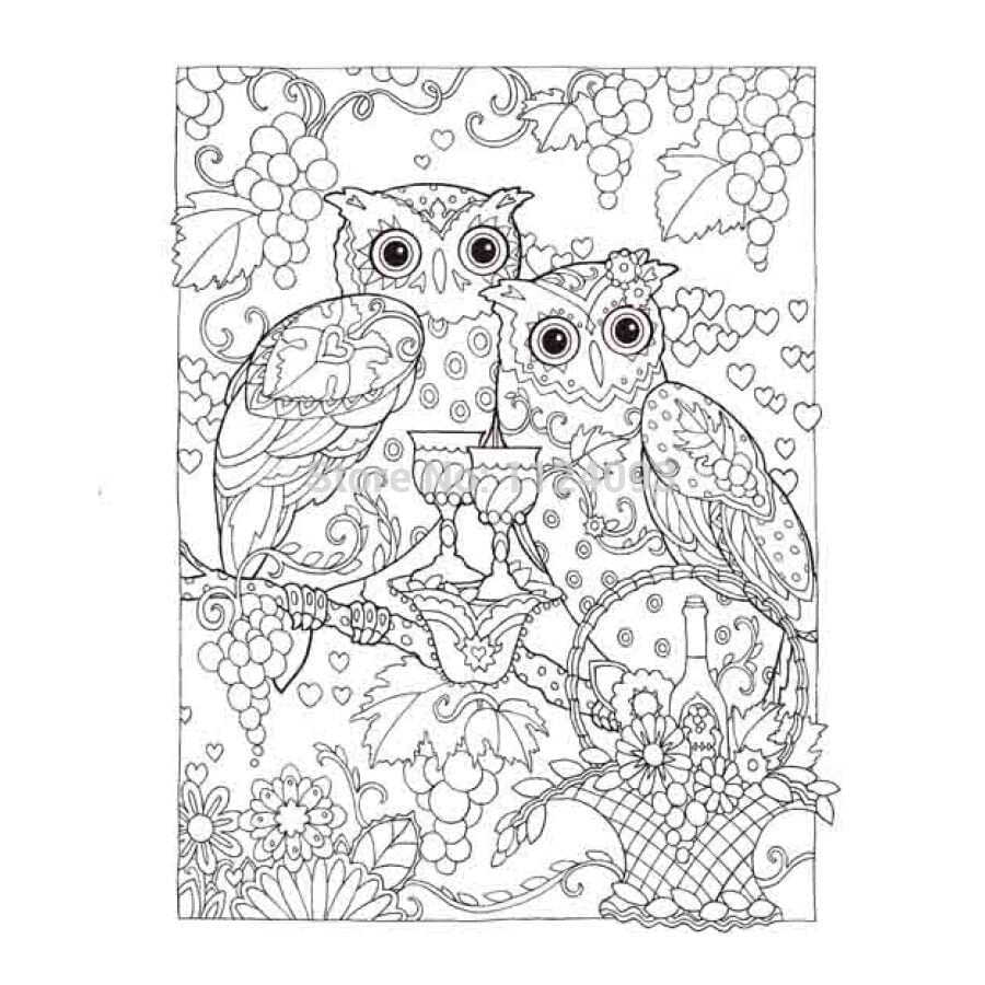 Creative Haven Coloring Book Owls Coloring Book ; Books For