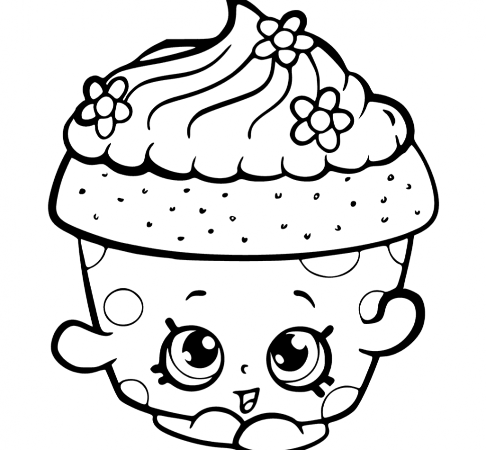 Cupcake Coloring Pages 73 With Cupcake Coloring Pages