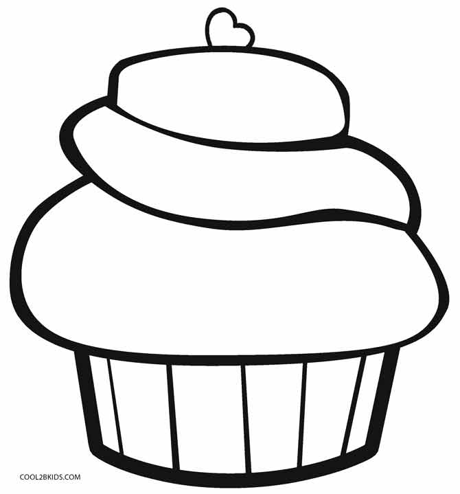 Cupcake Coloring Pages Best Cupcake Coloring Pages