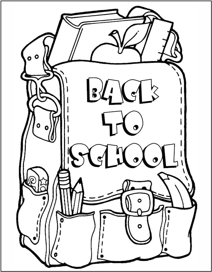 Custom Back To School Color Pages Colouring To Tiny Back To School