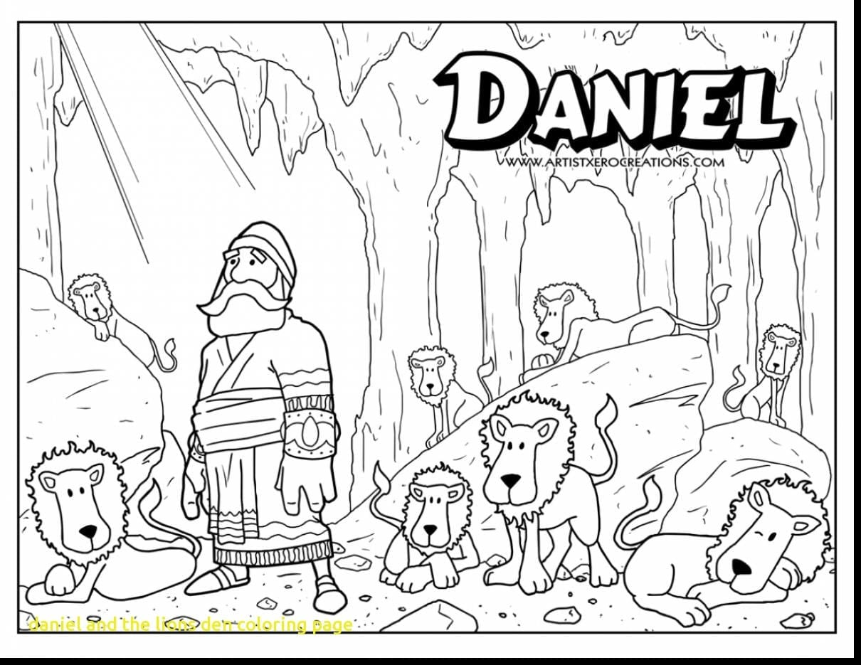 Daniel And The Lions Den Coloring Page With Good Bible Superhero
