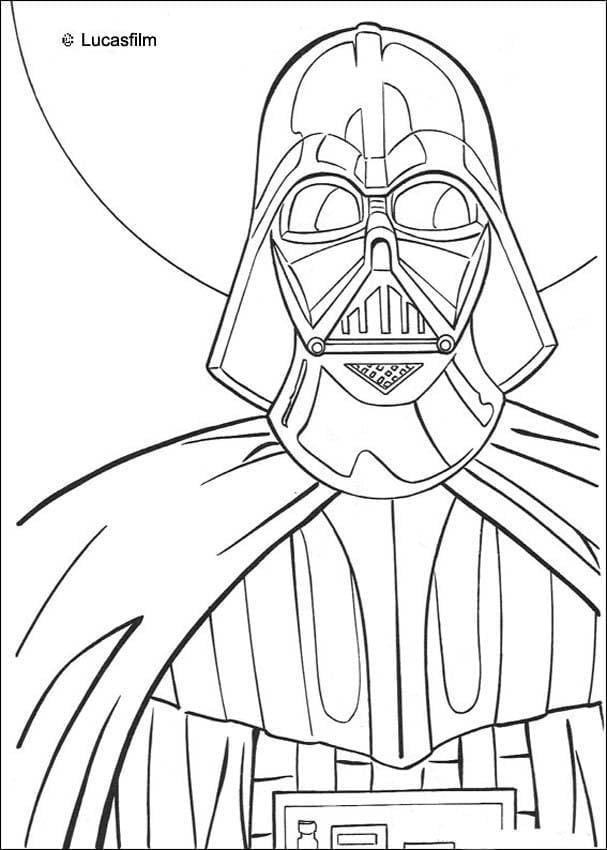 Darth Vader Coloring Pages Star Wars N 16 55612