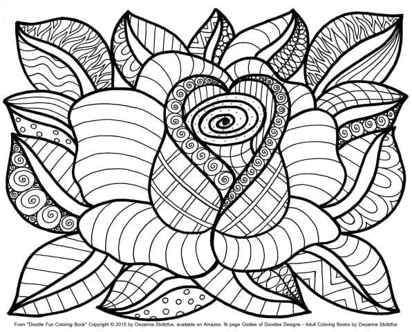 Attractive Ideas Coloring Page Flowers Free Printable Flower Pages