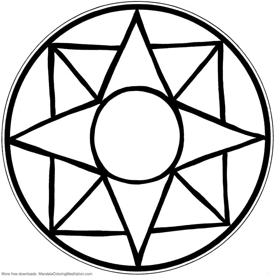 Easy Mandala Coloring Pages Photos