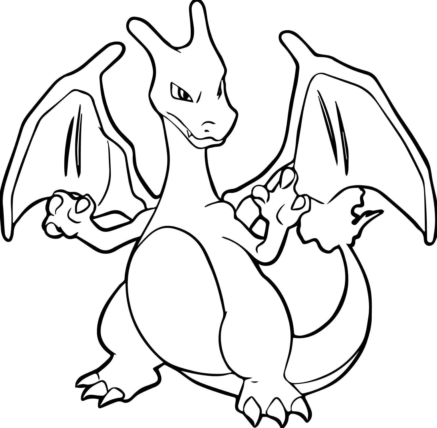 Impressive Charizard Coloring Pages Best Free Pokemon Page Full By