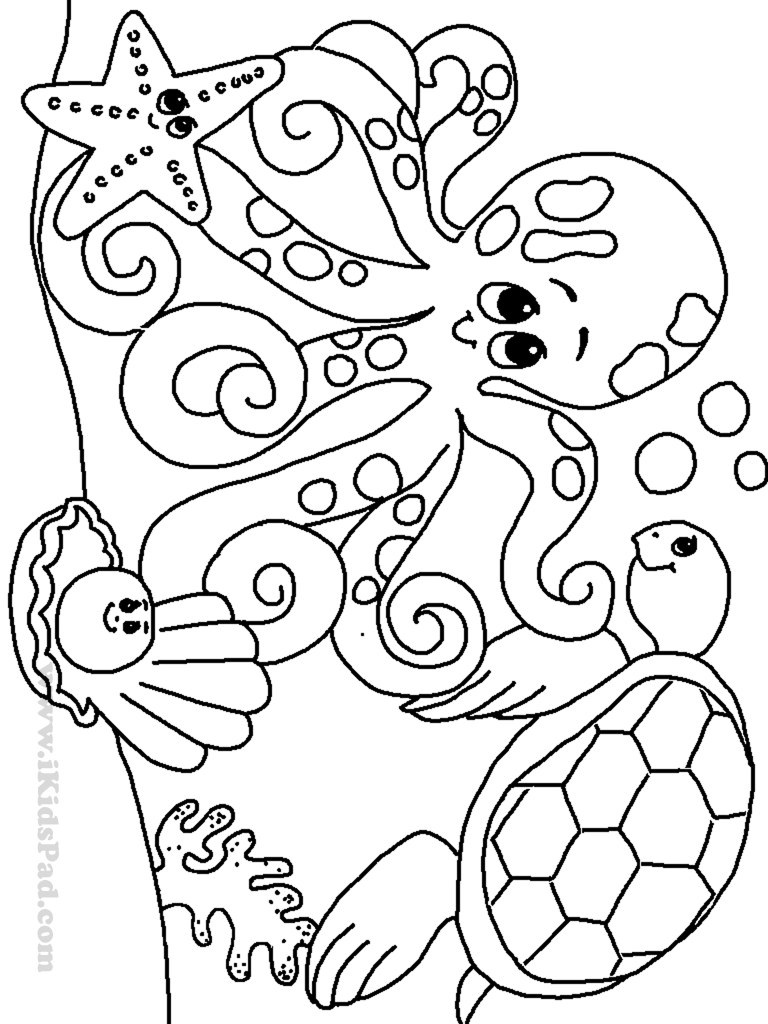 Direct Under The Sea Creatures Coloring Pages  20908