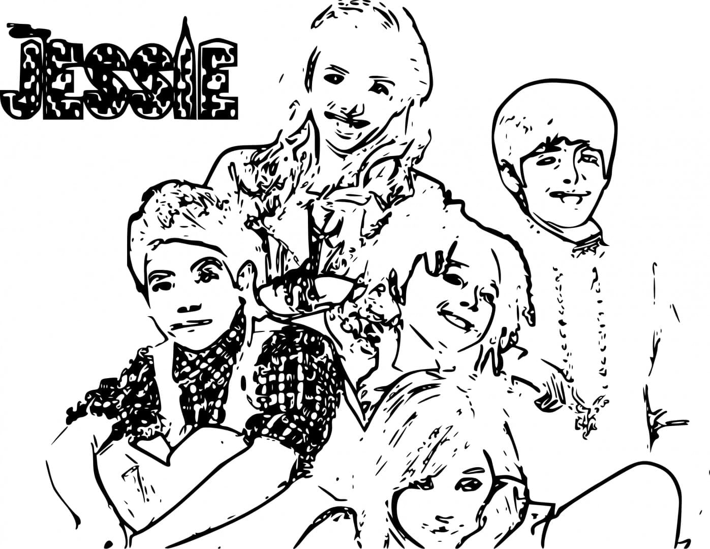 Disney Channel Jessie Coloring Pages
