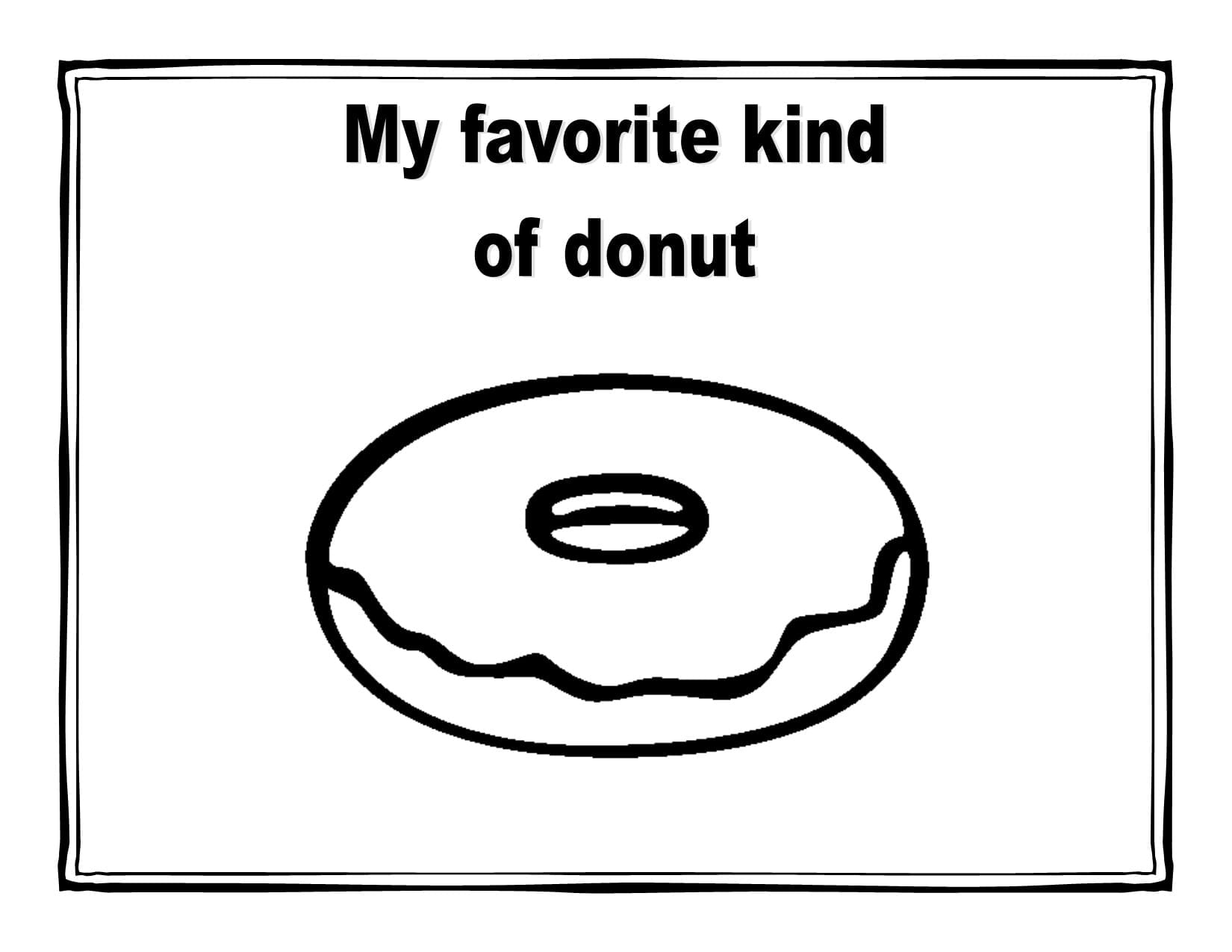 Donut Coloring Pages Coloring Pages At Page