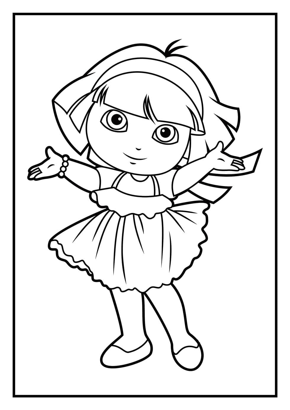 Dora Coloring Pages Diego Coloring Pages Dora Coloring Pages