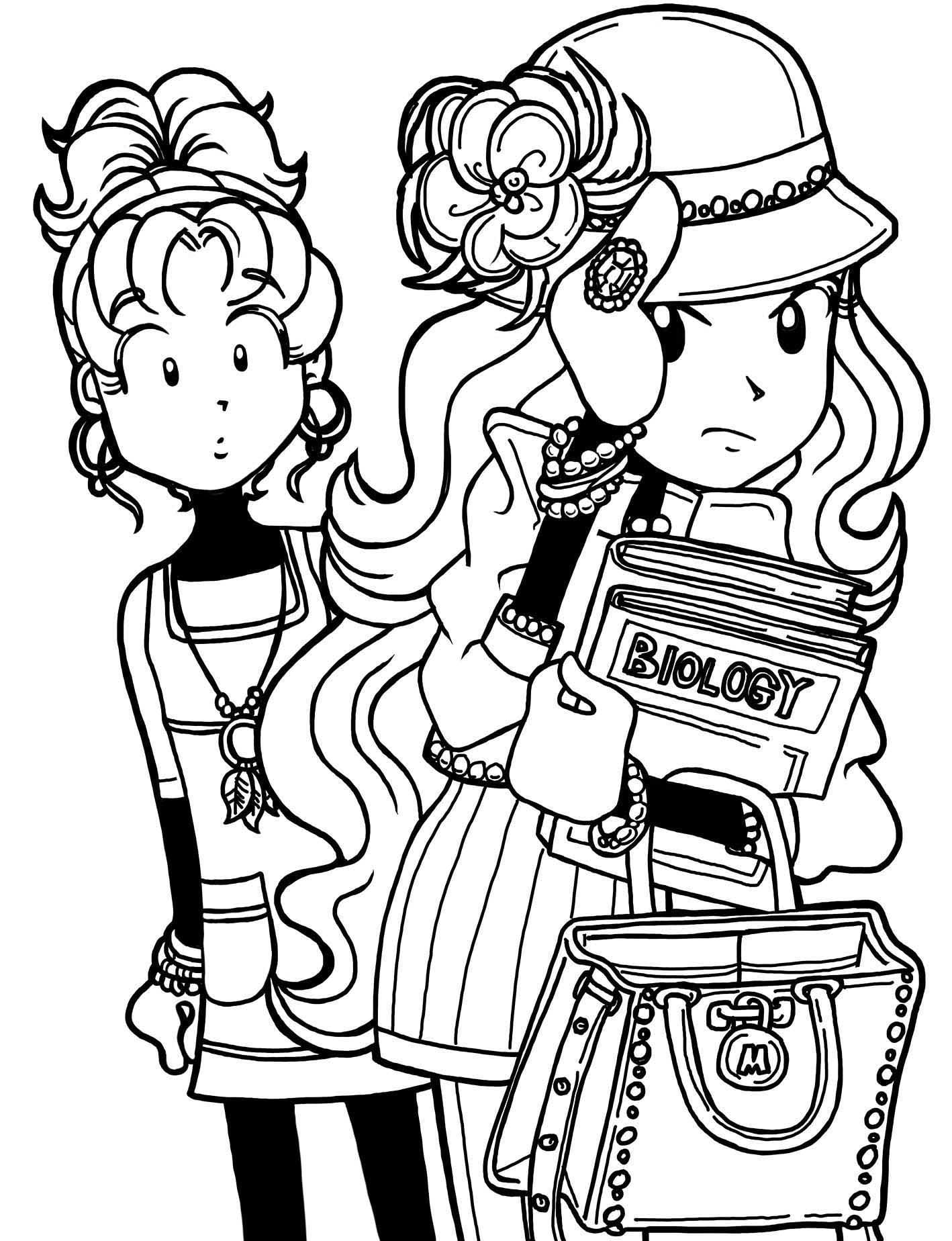 Cool Dork Diaries Coloring Pages Free Book In