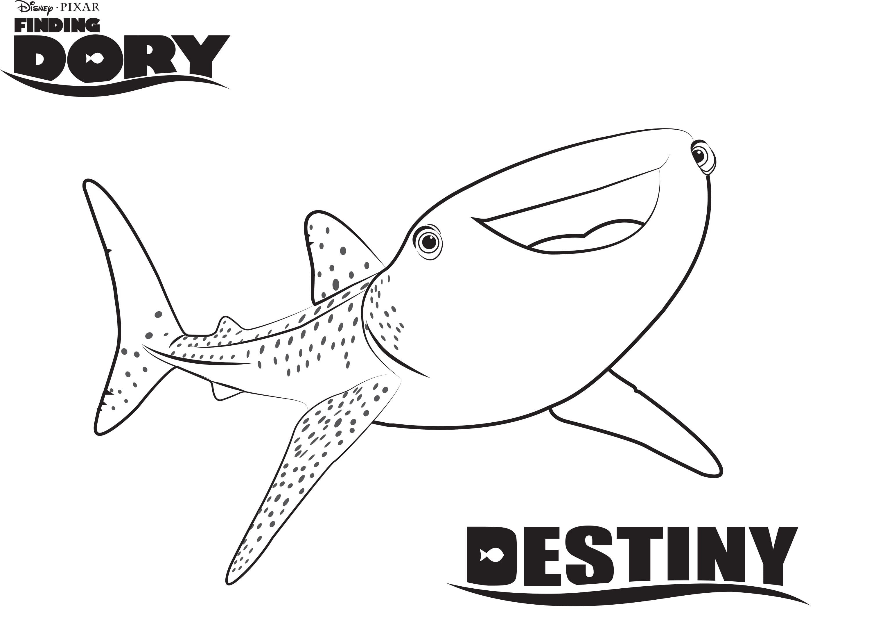 Dory Coloring Pages Disney S Finding Sheet Free Printable In
