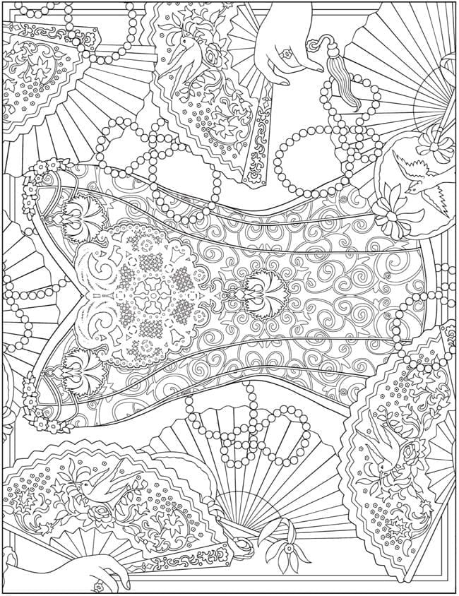 Dover Publications Coloring Pages 8  16388