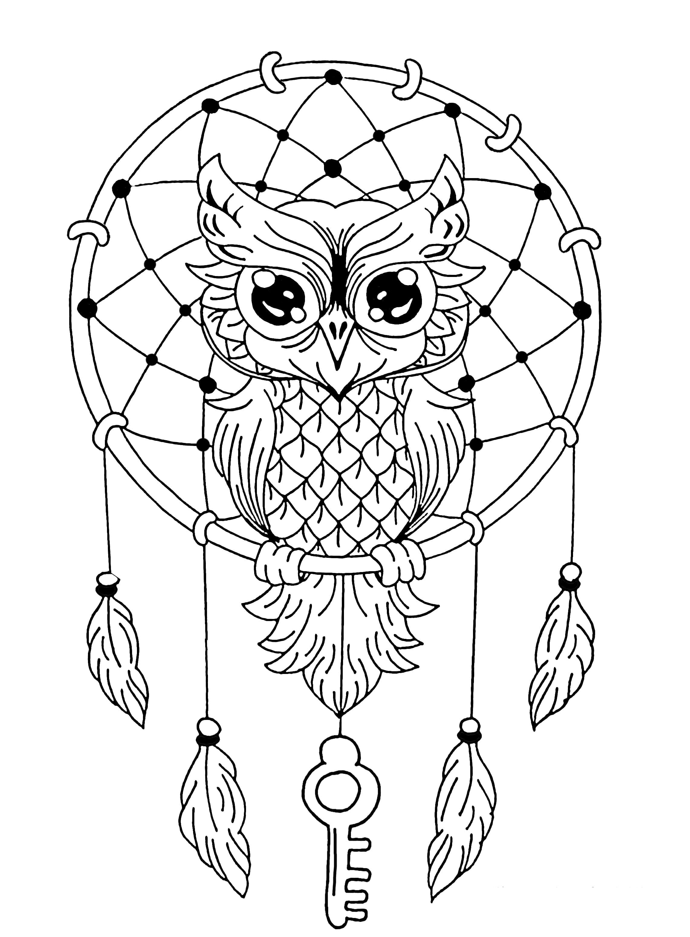 Dream Catcher Coloring Pages Gallery Free Books Inside