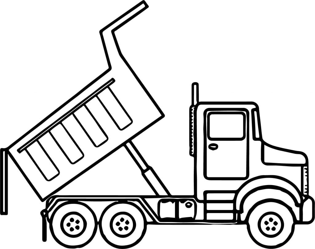 Garbage Truck Coloring Page Free Printable Pages And Dump