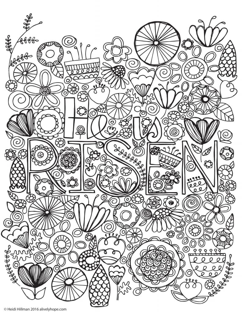 Easter Coloring Pages Best For Kids In He Is Risen Page At