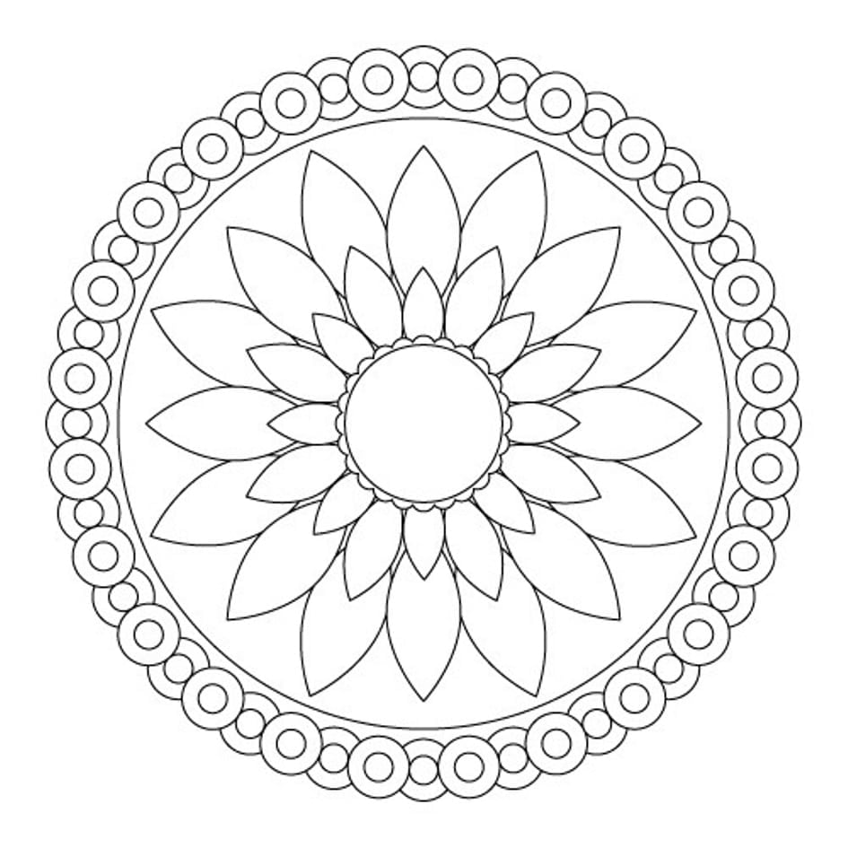 Easy Mandala Coloring Pages 6 Ideas And Auto Market Me Within