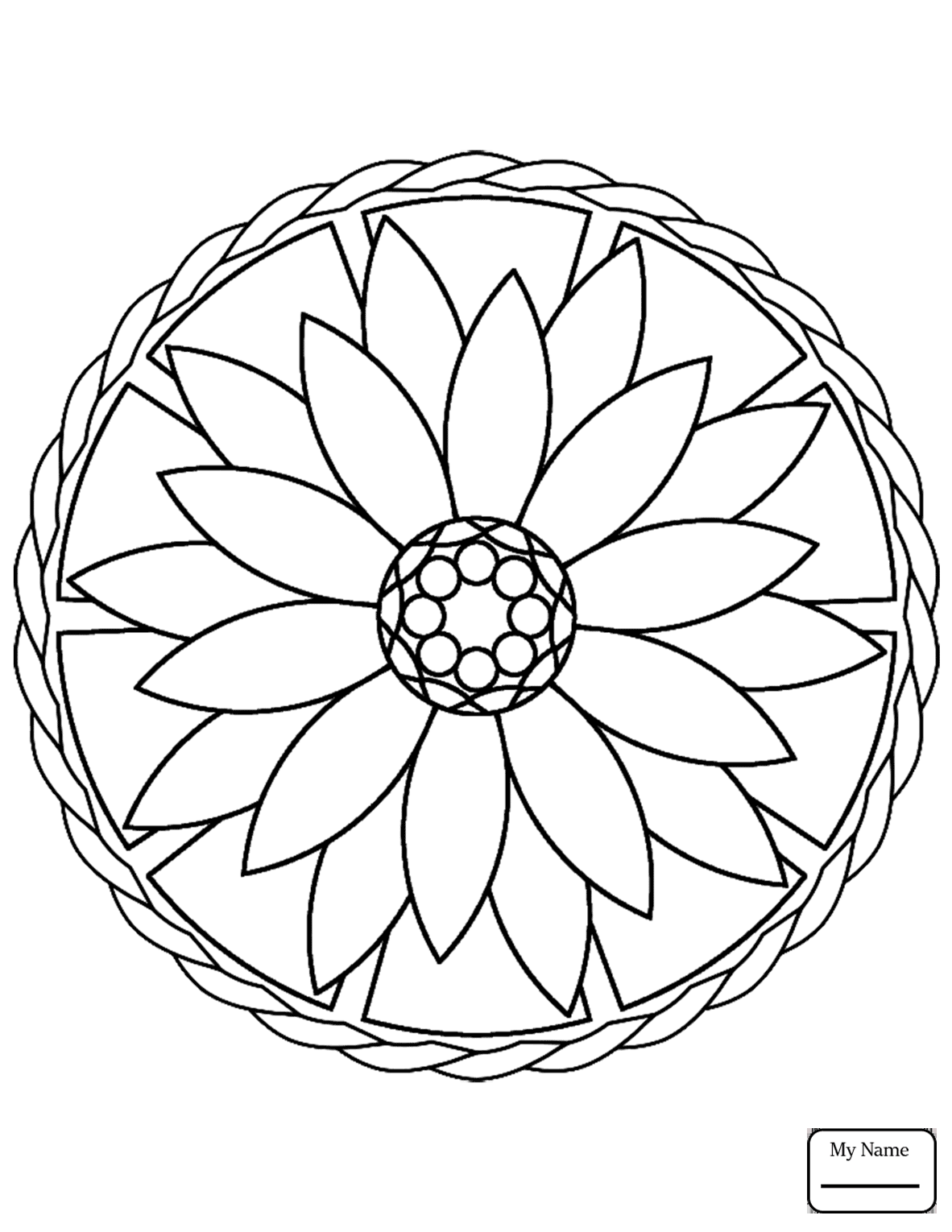 Easy Mandala Coloring Pages For Kids With Stars Arts Inside