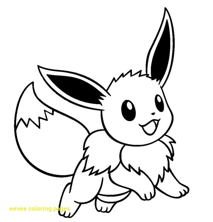 Eevee Coloring Pages With Pokemon Eevee Coloring Pages Wkweddingco