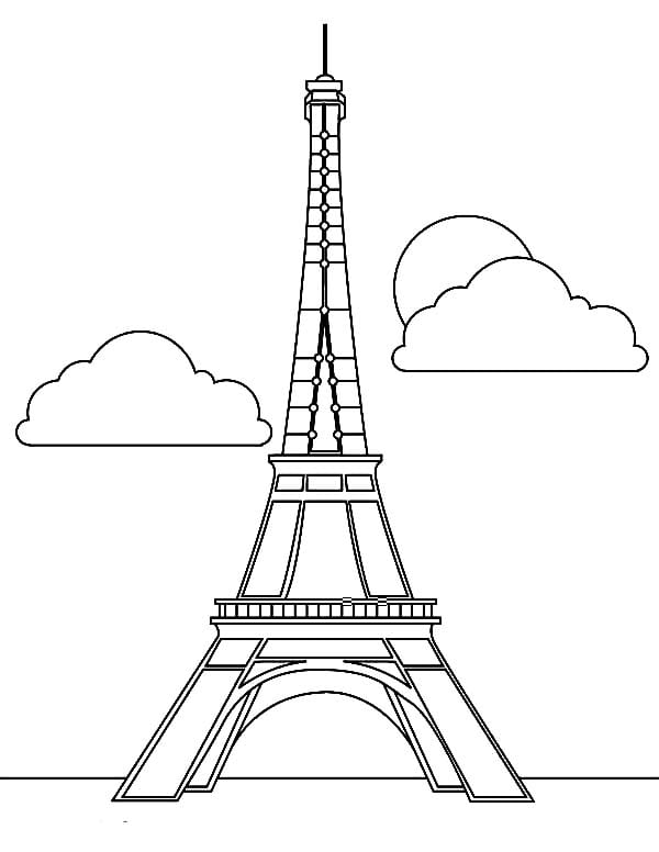 Eiffel Tower Coloring Page 10  11854