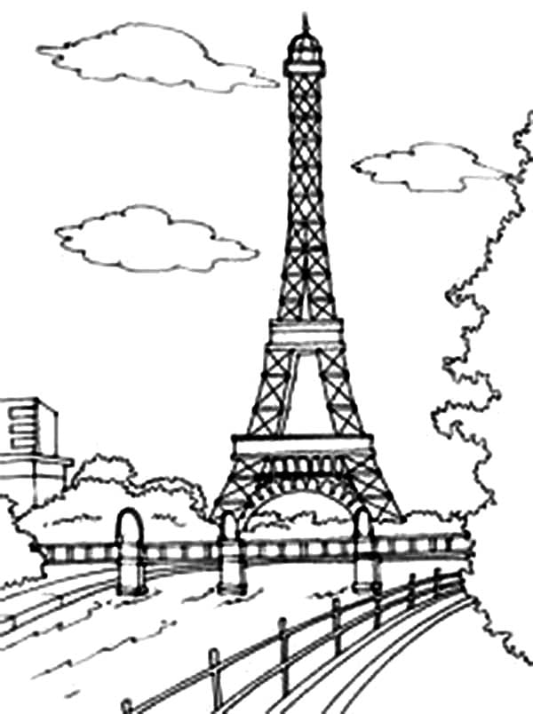 Eiffel Tower Coloring Page 4  11848