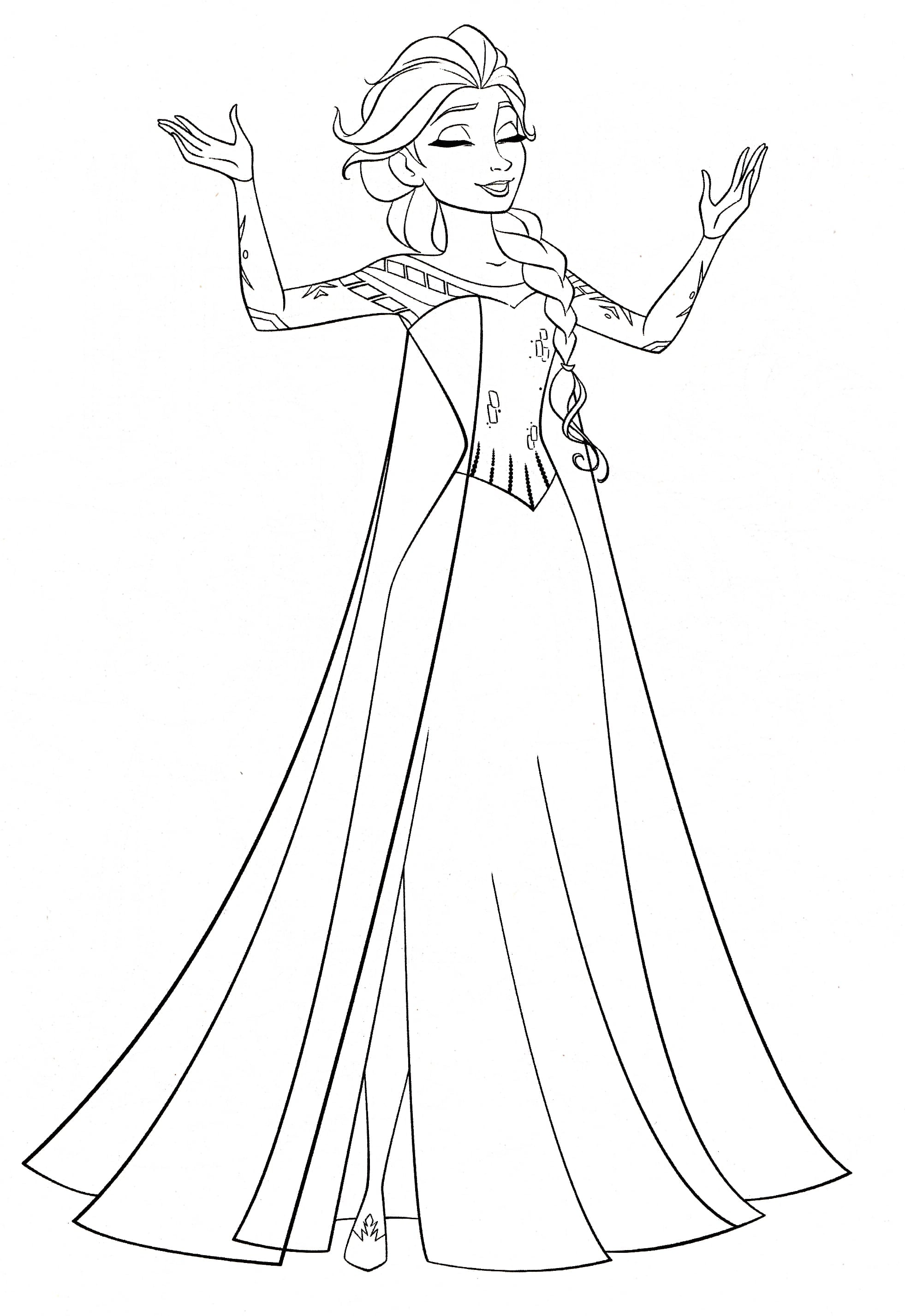 Free Elsa Coloring Pages