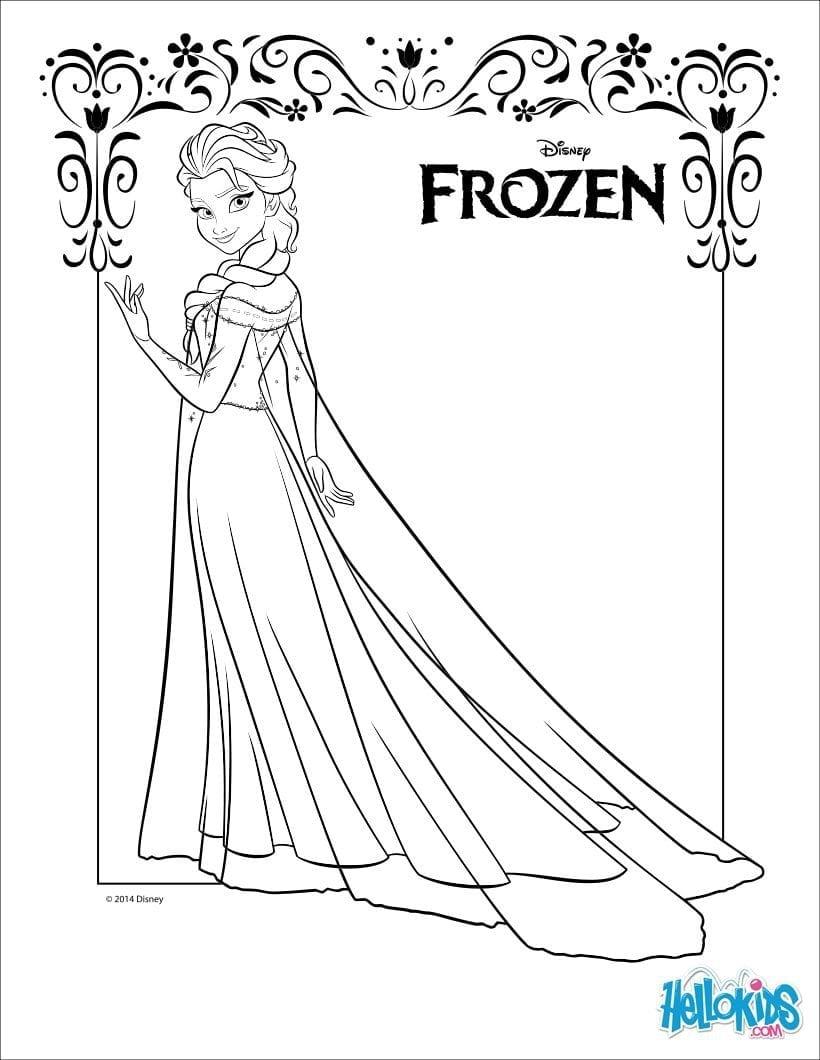 Elsa Frozen Coloring Page