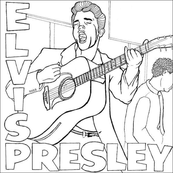 Elvis Coloring Page Popular Elvis Coloring Pages At Coloring Book