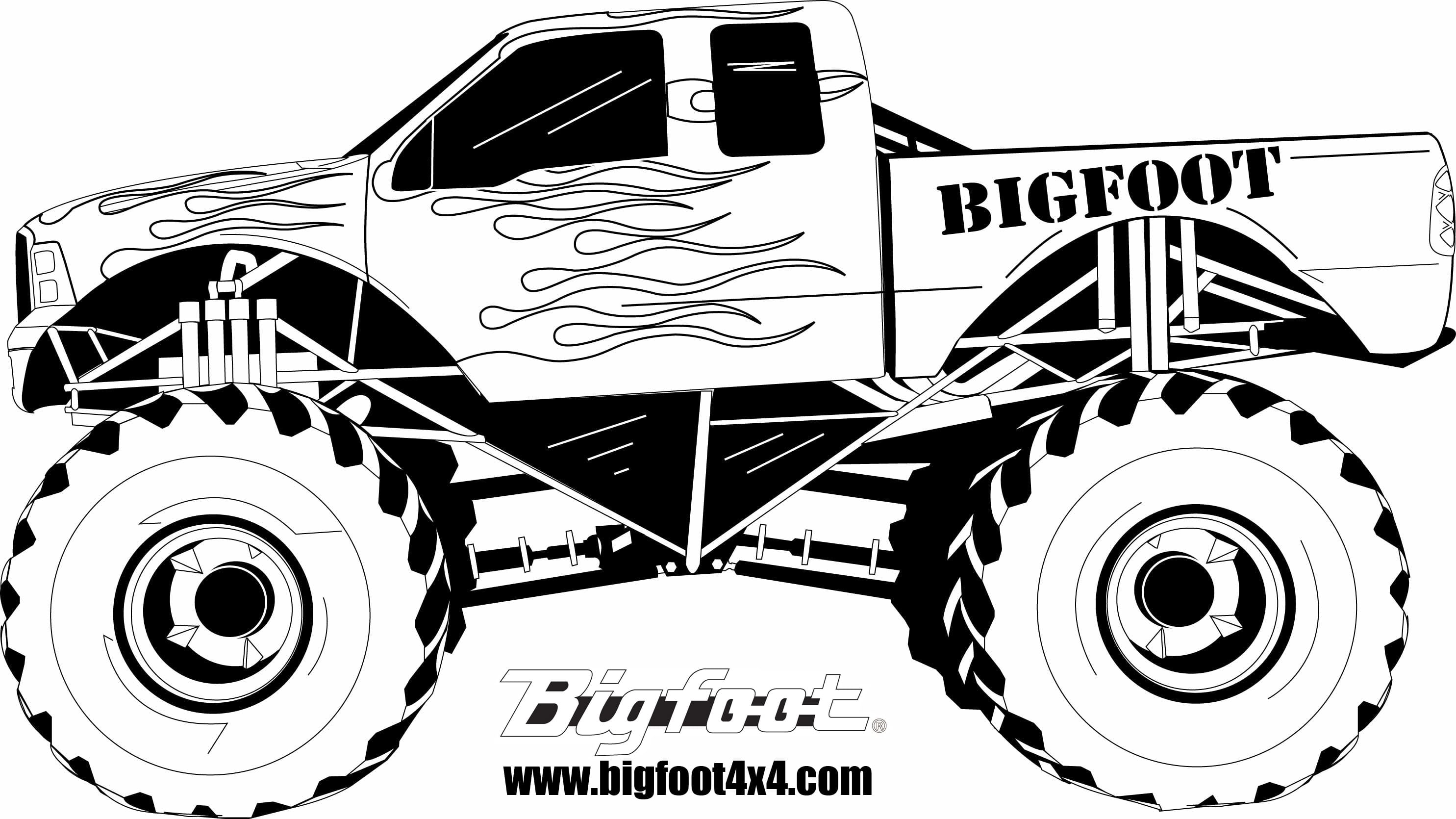 Endorsed Monster Truck Pictures To Color Coloring Pages Grave