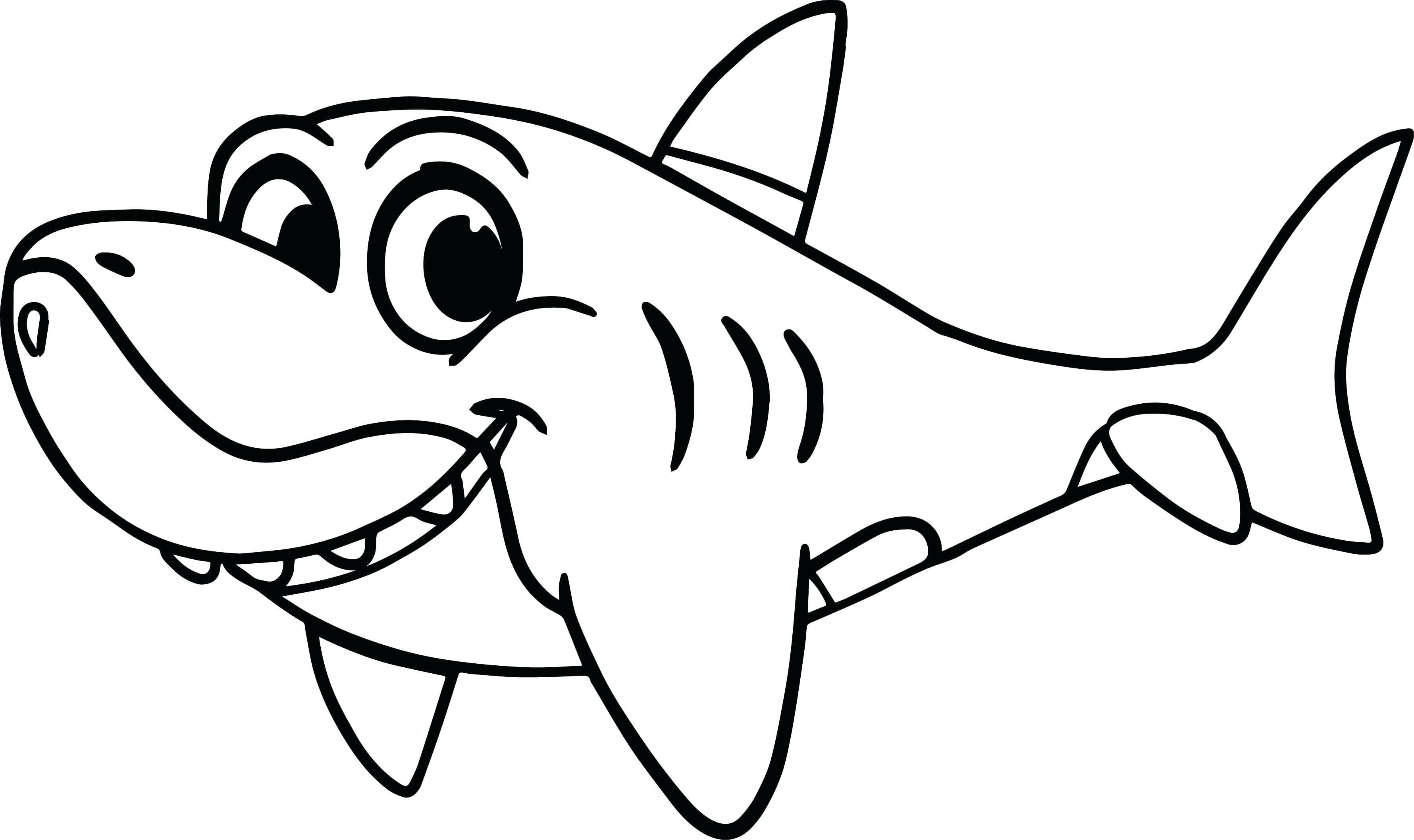 Coloring Book And Pages ~ Shark Coloring Pages Book And