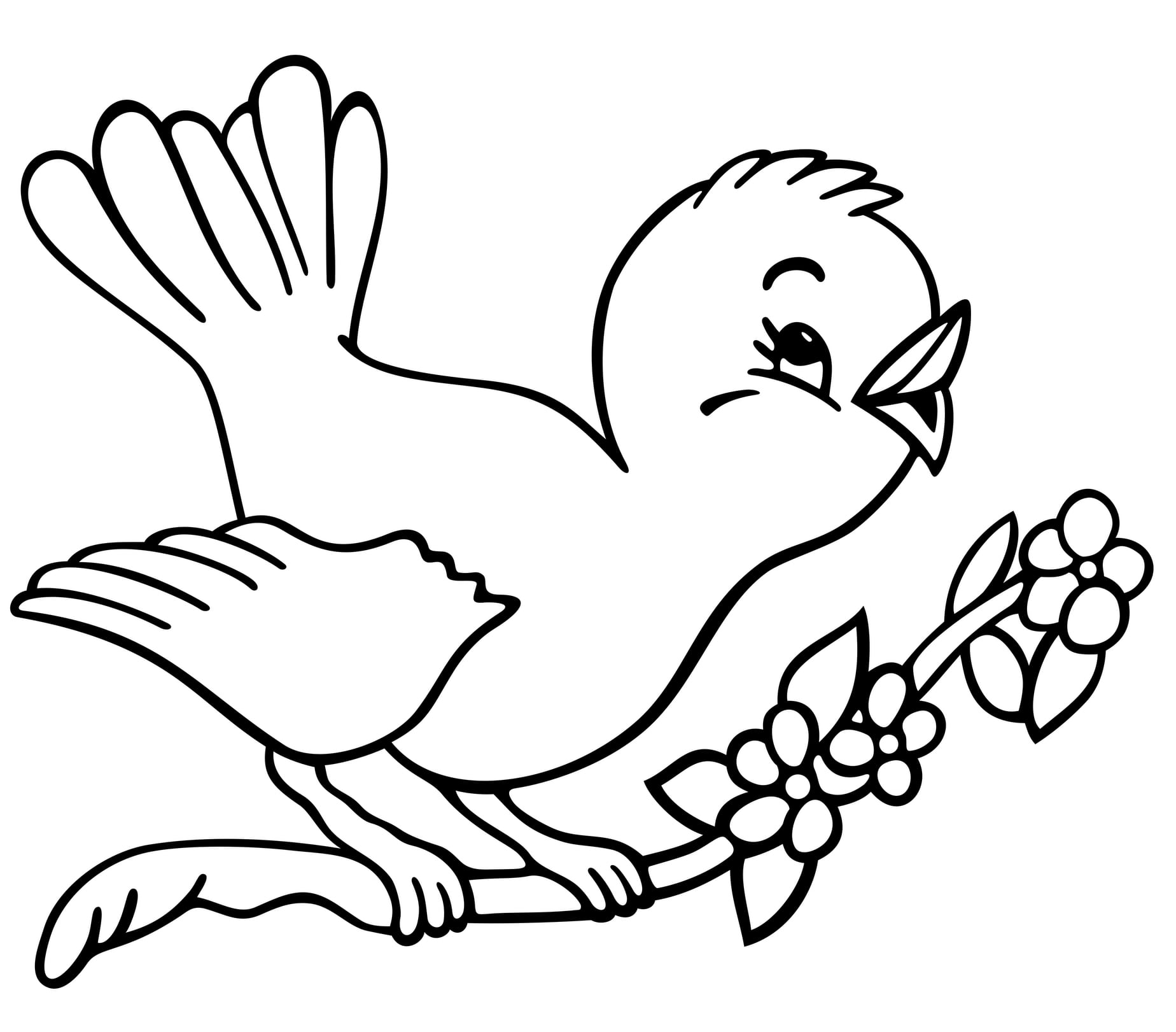 Perfect Coloring Page Of A Bird Coloring For Tiny Parrot Coloring