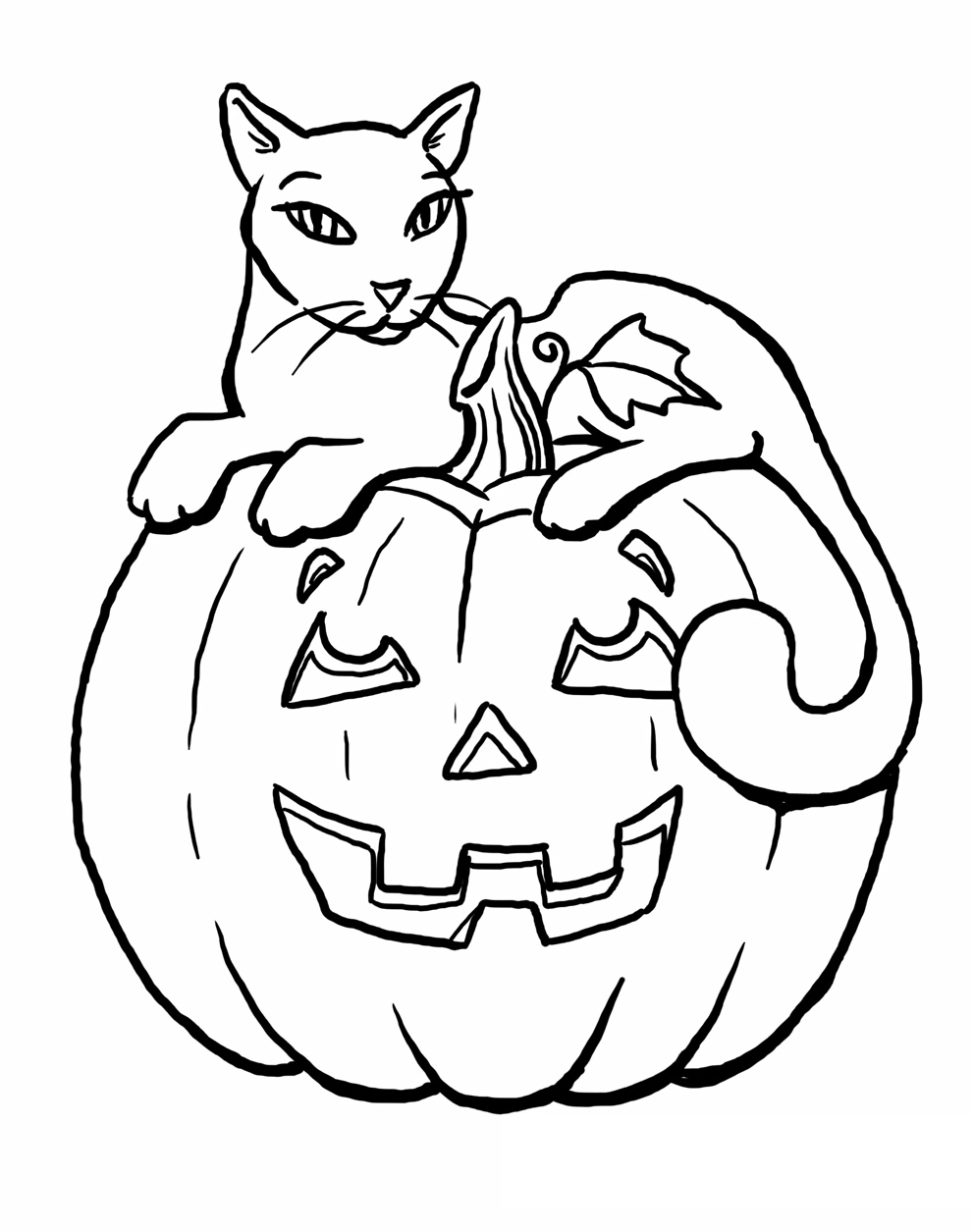 Edge Scary Black Cat Coloring Pages Superhero All  6488